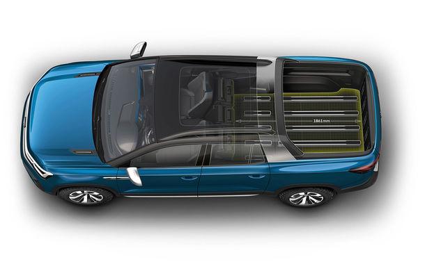 Volkswagen a prezentat noul concept Tarok: cutie automată și tracțiune integrală pentru pick-up-ul destinat pieței din Brazilia - Poza 2