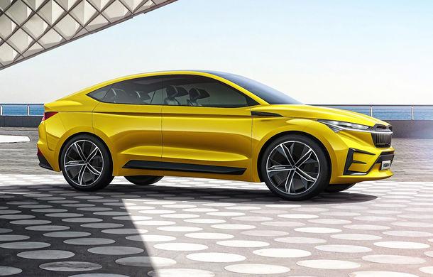 Skoda Vision iV: conceptul de 306 cai putere și autonomie de 500 de kilometri anticipează lansarea unui SUV coupe electric - Poza 2