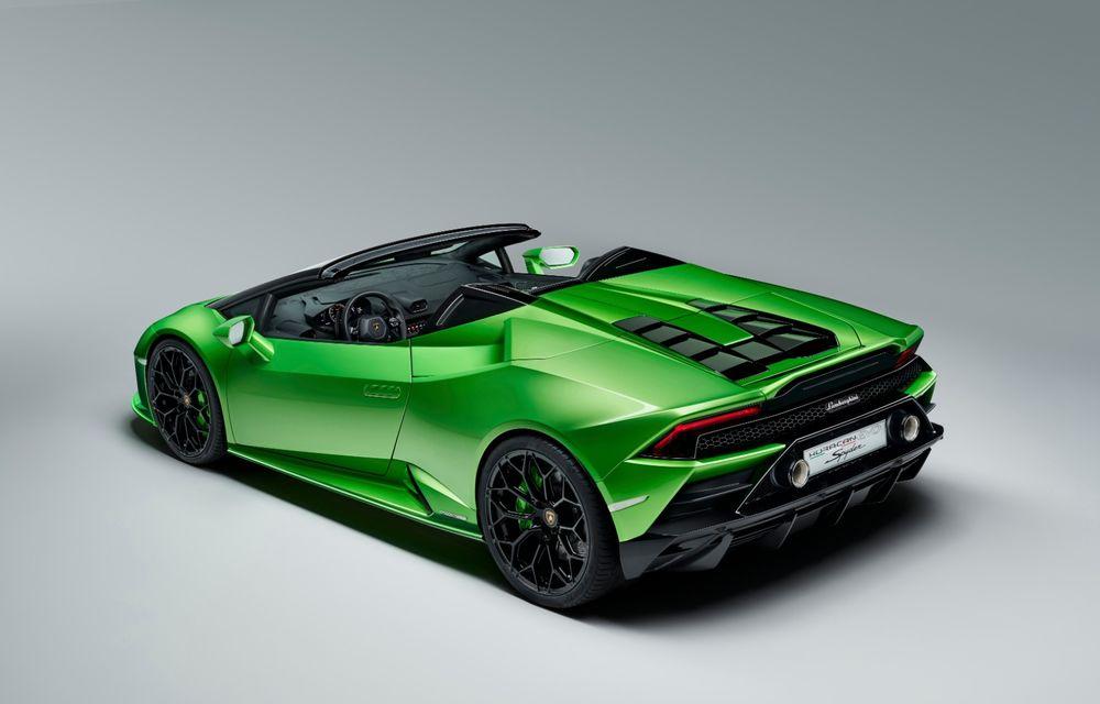 Lamborghini prezintă Huracan Evo Spyder: 640 CP și plafon retractabil care poate fi operat până la 50 km/h - Poza 2