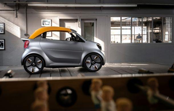 Smart prezintă noul concept electric Forease+: fără geamuri laterale, dar cu plafon din material textil - Poza 2