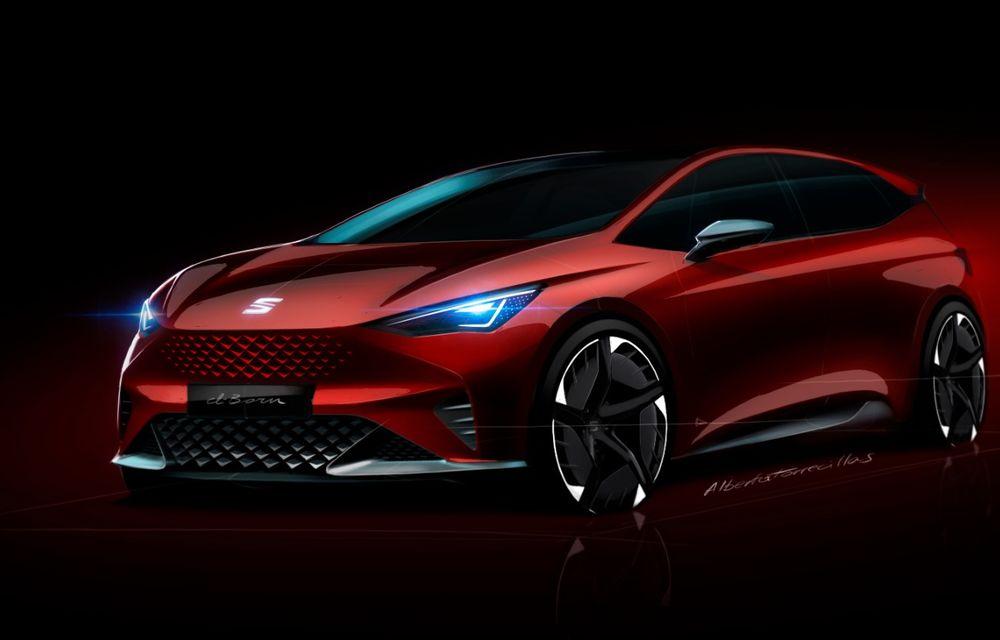 Seat prezintă conceptul el-Born: motor electric de 204 CP și autonomie de până la 420 de kilometri - Poza 2
