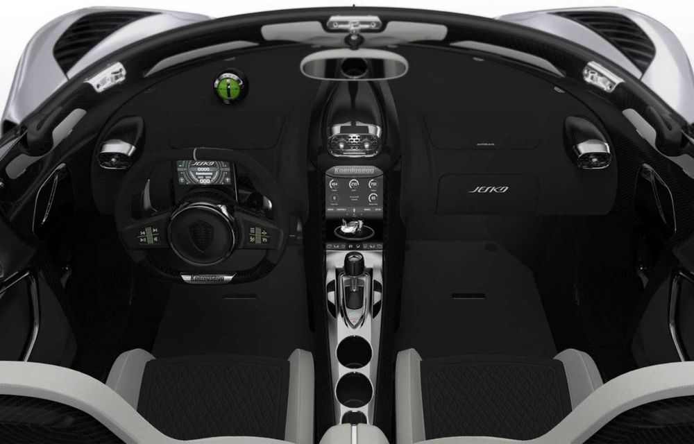 Noul Koenigsegg Jesko a fost lansat la Geneva: motor V8 de 5.0 litri cu până la 1.600 CP - Poza 2