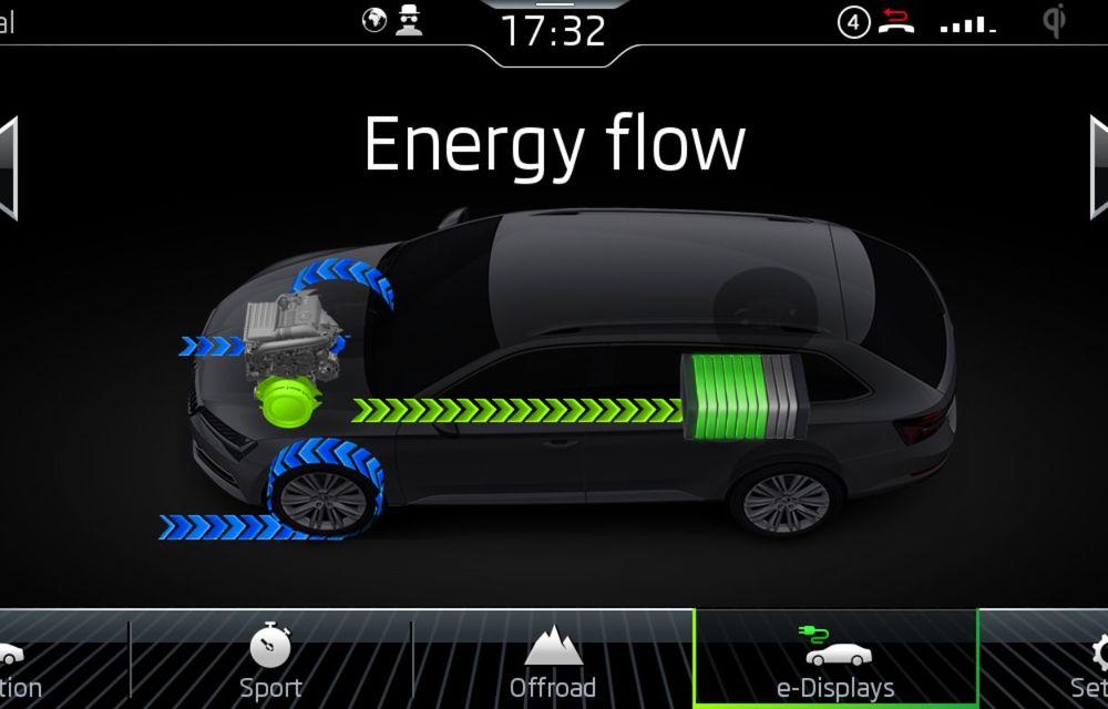 Primele fotografii și detalii cu Skoda Superb facelift: faruri LED Matrix și versiune plug-in hybrid de 218 CP cu autonomie electrică de 55 de kilometri - Poza 2