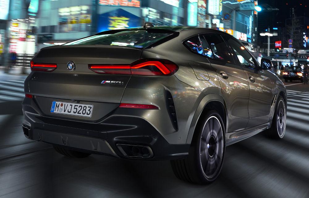 Imagini și detalii tehnice pentru noua generație BMW X6: motor pe benzină V8 de 530 de cai putere și grilă iluminată - Poza 2