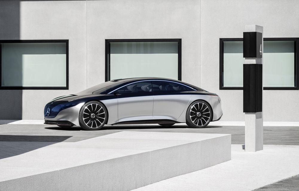 Mercedes-Benz Vision EQS: conceptul viitoarei generații Clasa S este electric și are autonomie de 700 de kilometri - Poza 2