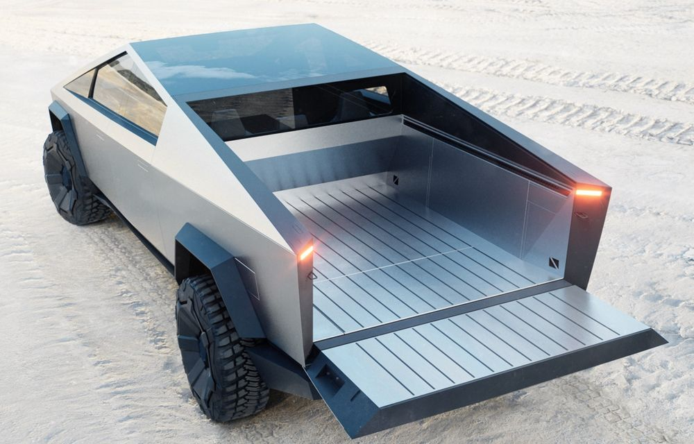Tesla prezintă Cybertruck: pick-up electric cu capacitate de încărcare de 1.6 tone, autonomie de până la 800 de kilometri și tracțiune integrală - Poza 2