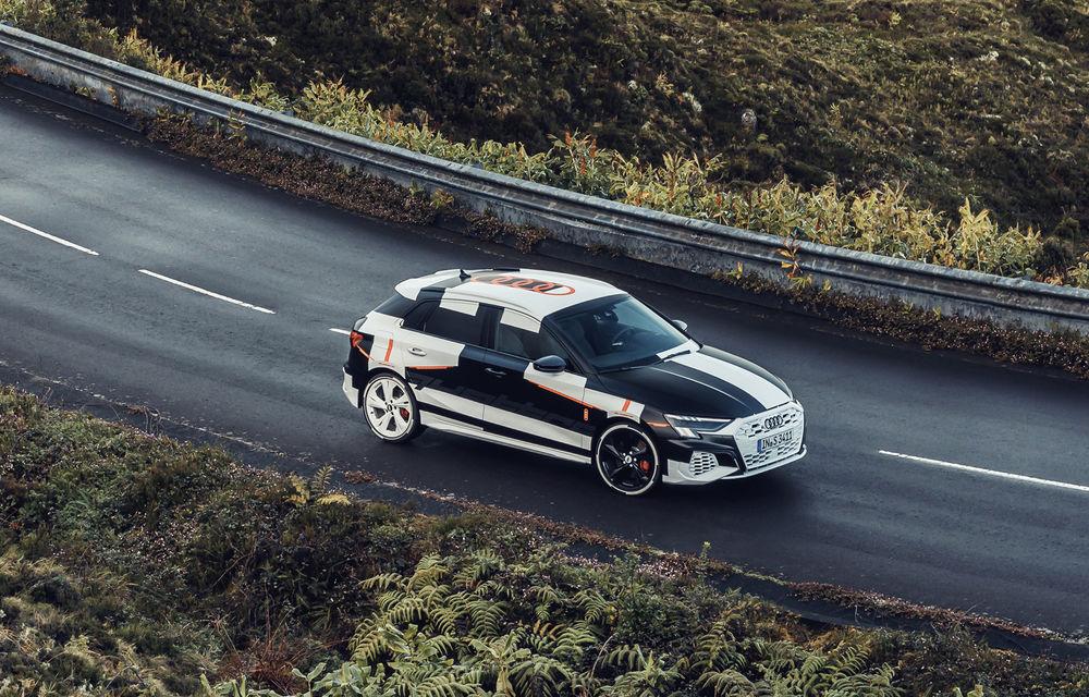 Primele imagini cu noua generație Audi A3 Sportback: prototipul modelului compact a fost testat în Insulele Azore - Poza 2