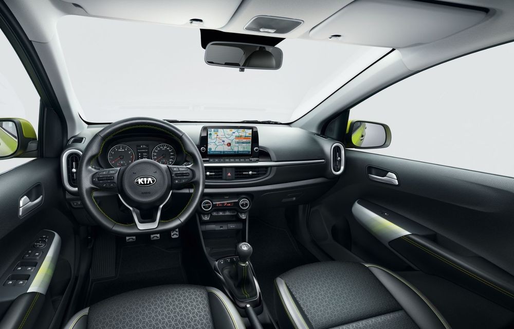 Kia lansează versiunea europeană a lui Picanto facelift: modificări estetice, ecran central de 8 inch și transmisie robotizată - Poza 2