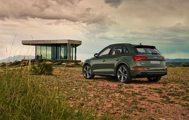 Audi a prezentat Q5 facelift: stopuri cu OLED, îmbunătățiri pentru interior și motorizare diesel mild-hybrid - Poza 2