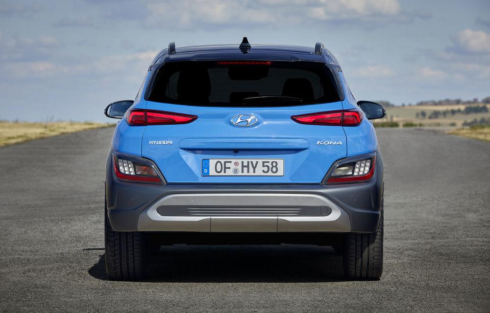 Hyundai prezintă Kona facelift: schimbări de design exterior, ecrane mai mari la interior, motorizări mild-hybrid și versiune N-Line - Poza 6